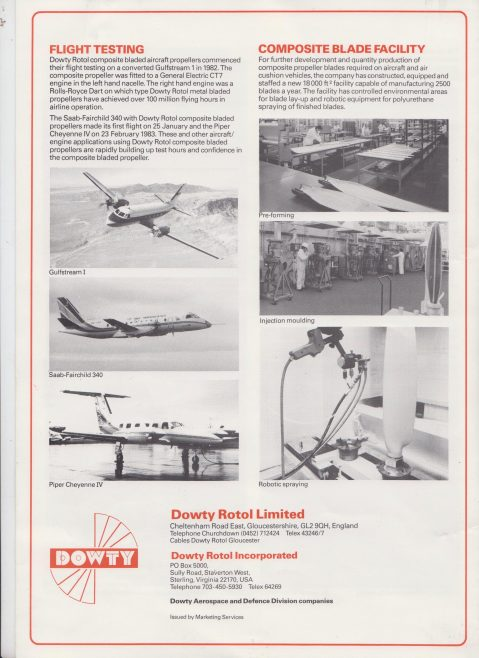 Dowty Rotol - Newsletter September 1983 | Original photo in the Dowty archive at the Gloucestershire Heritage Hub
