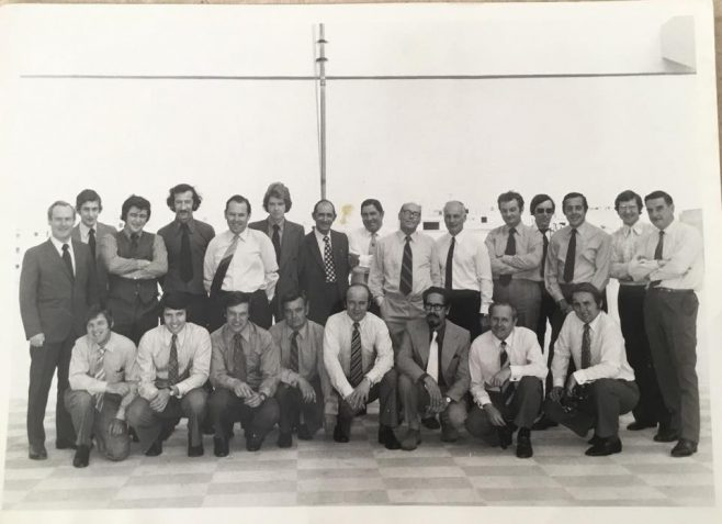 1975 Dowty Seals Sales team visiting Malta Rubber | Ken White