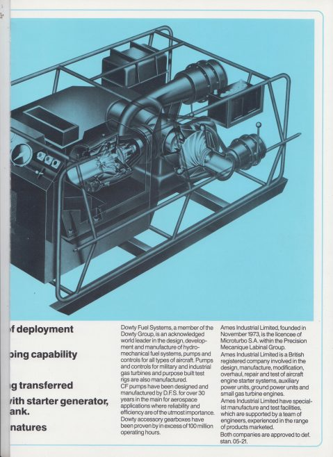Dowty Fuel Systems - Portable Multirole Pipeline Pumping | Original photo in the Dowty archive at the Gloucestershire Heritage Hub