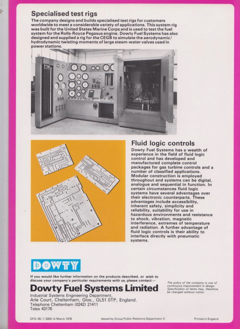 Dowty Fuel Systems - Industrial Control Systems Engineering | Original photo in the Dowty archive at the Gloucestershire Heritage Hub