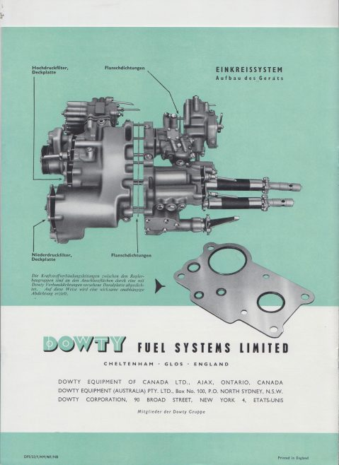 Dowty Fuel Systems - German Publication | Original photo in the Dowty archive at the Gloucestershire Heritage Hub