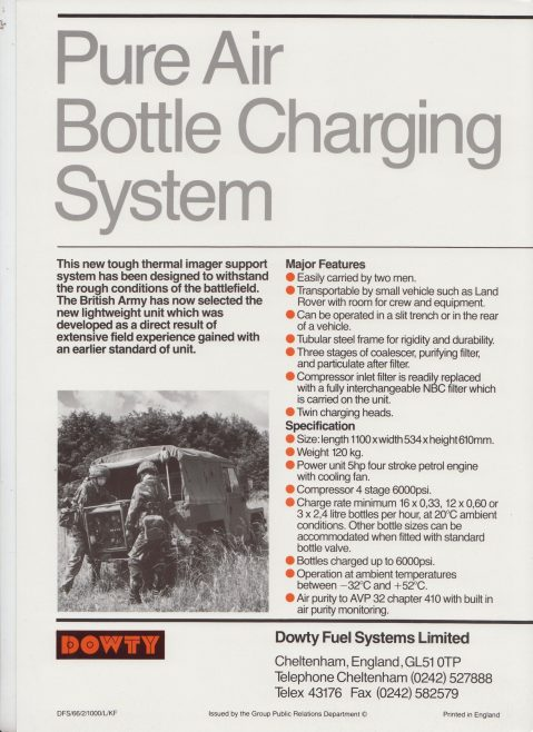 Dowty Fuel Systems - Pure Air Bottle Charging System | Original photo in the Dowty archive at the Gloucestershire Heritage Hub