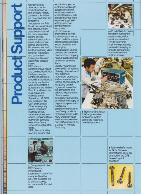 Dowty Fuel Systems - Company Profile | Original photo in the Dowty archive at the Gloucestershire Heritage Hub