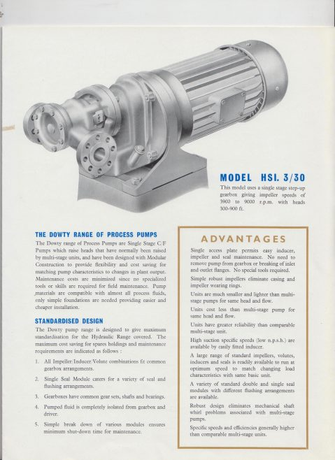 Dowty Fuel Systems - Single Stage High Head Centrifugal Process Pump | Original photo in the Dowty archive at the Gloucestershire Heritage Hub
