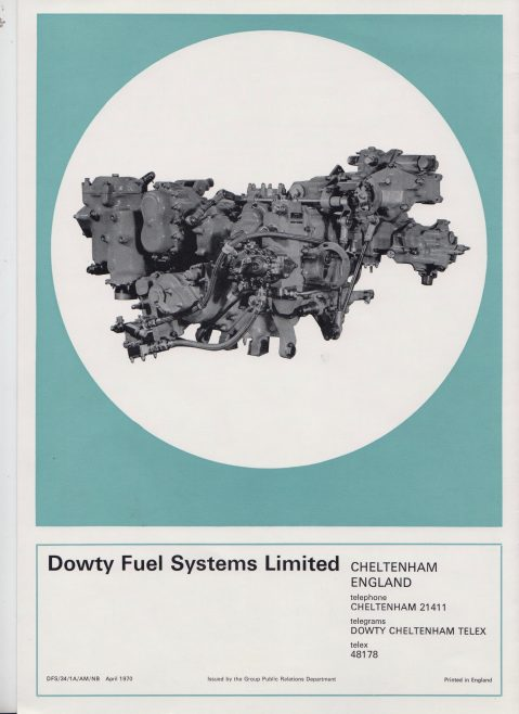 Dowty Fuel Systems - Fuel System for Rolls-Royce Pegasus Engine   Original photo in the Dowty archive at the Gloucestershire Heritage Hub