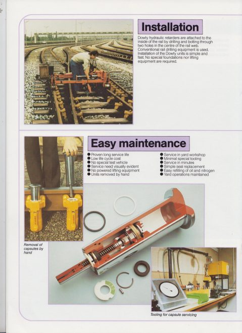Dowty Hydraulic Units - Rail Marshalling with Efficiency and Economy | Original photo in the Dowty archive at the Gloucestershire Heritage Hub