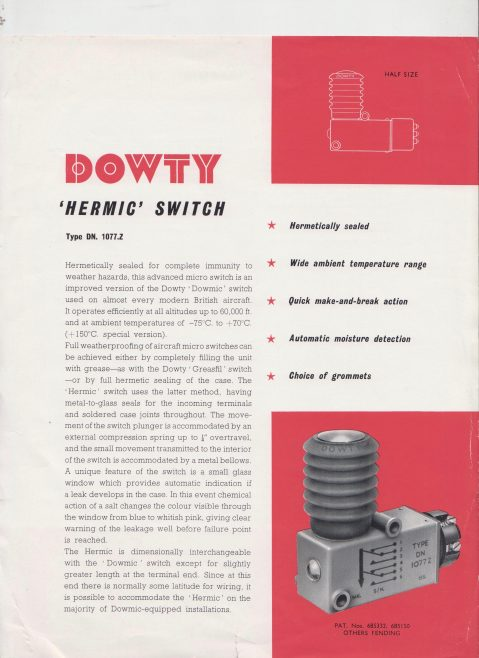 Dowty Nucleonics - Hermic Switch | Original photo in the Dowty archive at the Gloucestershire Heritage Hub