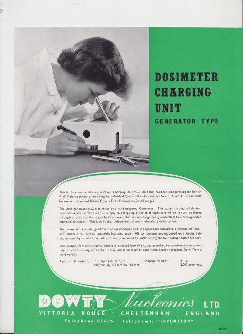 Dowty Nucleonics - Dosimeter Charging Unit Generator Type | Original photo in the Dowty archive at the Gloucestershire Heritage Hub
