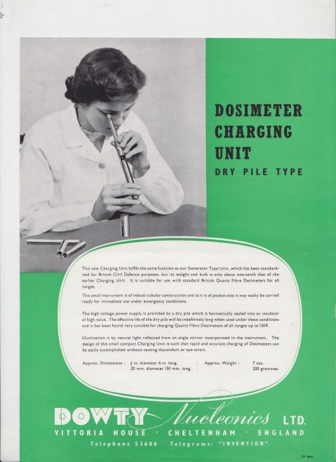 Dowty Nucleonics - Dosimeter Charging Unit Dry Pile Type | Original photo in the Dowty archive at the Gloucestershire Heritage Hub