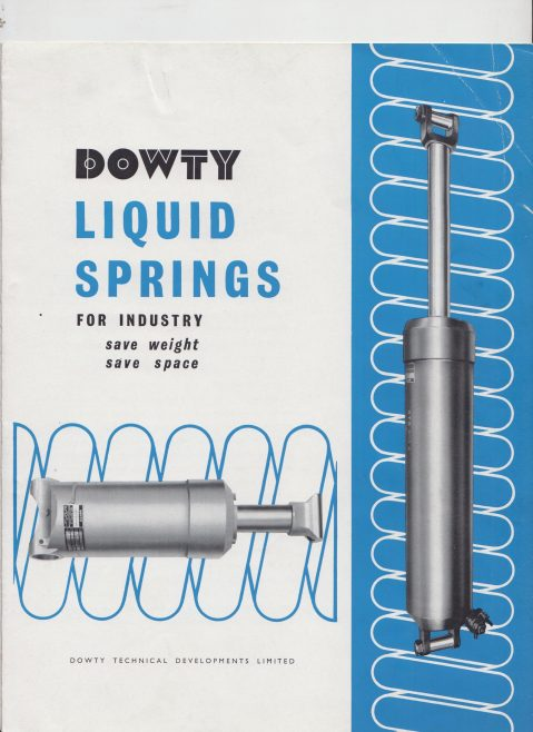 Dowty Technical Developments - Liquid Springs for Industry | Original photo in the Dowty archive at the Gloucestershire Heritage Hub