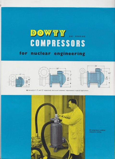Dowty Fuel Systems - Gas Bearing Compressors for Nuclear Engineering | Original photo in the Dowty archive at the Gloucestershire Heritage Hub
