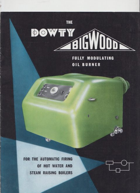 Dowty Bigwood - Fully Modulating Oil Burner | Original photo in the Dowty archive at the Gloucestershire Heritage Hub