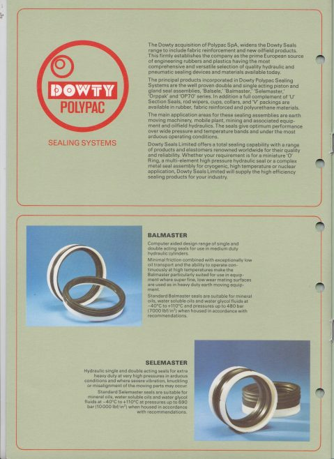 Dowty Seals - Dowty Polypac Sealing Systems | Original photo in the Dowty archive at the Gloucestershire Heritage Hub