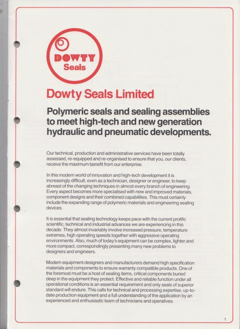 Dowty Seals - Polymer Engineering for Hydraulics and Pneumatics | Original photo in the Dowty archive at the Gloucestershire Heritage Hub