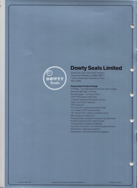 Dowty Seals - High Performance Metal Seals | Original photo in the Dowty archive at the Gloucestershire Heritage Hub