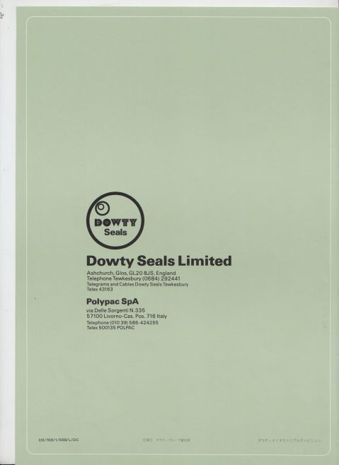 Dowty Seals - Dowty Polypac Sealing Systems (Japanese Version) | Original photo in the Dowty archive at the Gloucestershire Heritage Hub