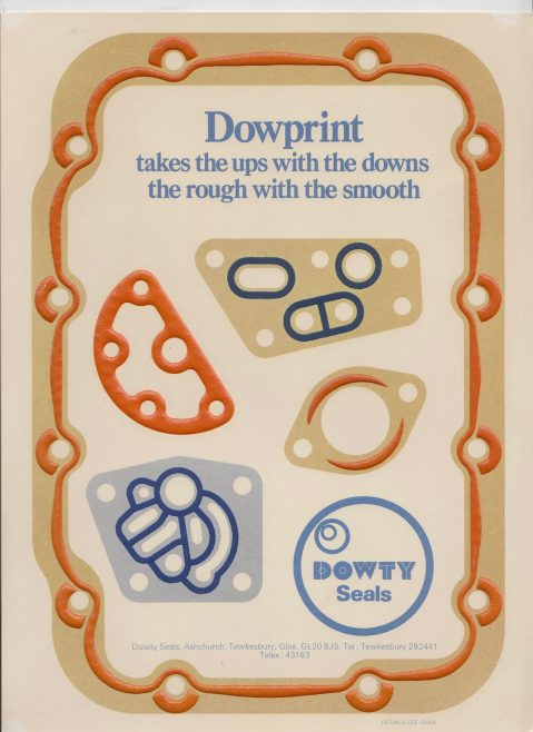 Dowty Seals - Dowprint | Original photo in the Dowty archive at the Gloucestershire Heritage Hub