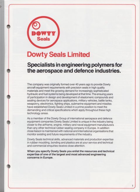 Dowty Seals - Polymer Engineering for Aerospace and Defence | Original photo in the Dowty archive at the Gloucestershire Heritage Hub