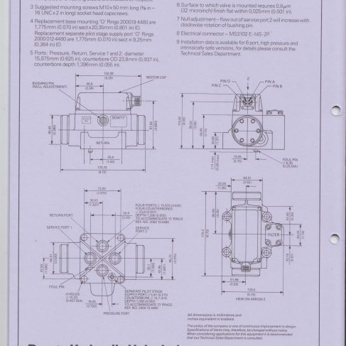 Servo Products Division - 4550 Series Servo Valve Data Sheet | Original photo in the Dowty archive at the Gloucestershire Heritage Hub