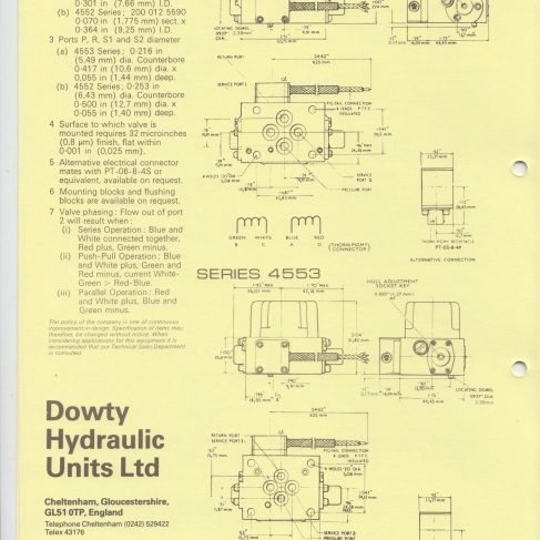 Servo Products Division - 4552 & 4553 Series Servo Valves Data Sheet | Original photo in the Dowty archive at the Gloucestershire Heritage Hub