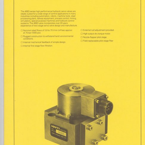 Servo Products Division - 4683 Series Servo Valve Data Sheet | Original photo in the Dowty archive at the Gloucestershire Heritage Hub