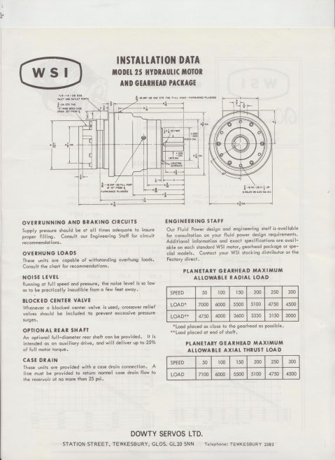 Servo Products Division - WSI Model 25 Hydraulic Motor & Gearhead Package | Original photo in the Dowty archive at the Gloucestershire Heritage Hub