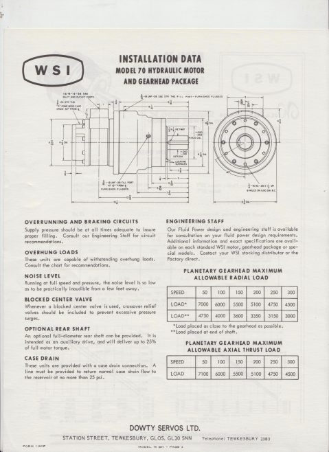 Servo Products Division - WSI Model 70 Hydraulic Motor & Gearhead Package | Original photo in the Dowty archive at the Gloucestershire Heritage Hub
