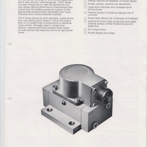 Servo Products Division - 4681 Series Servo Valve Data Sheet | Original photo in the Dowty archive at the Gloucestershire Heritage Hub