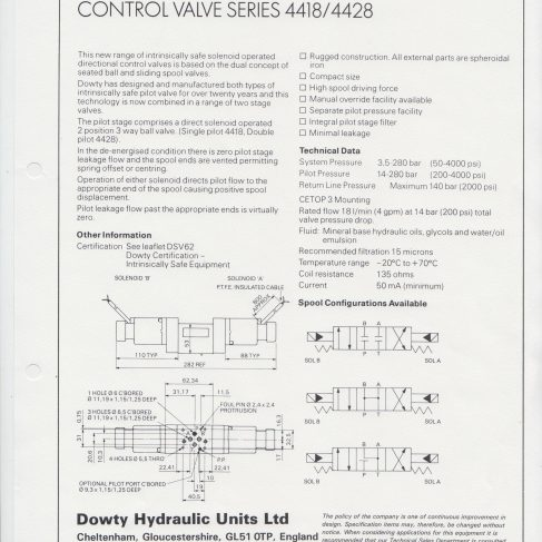Servo Products Division - Intrinsically Safe Directional Control Valve Series 4418/4428 | Original photo in the Dowty archive at the Gloucestershire Heritage Hub