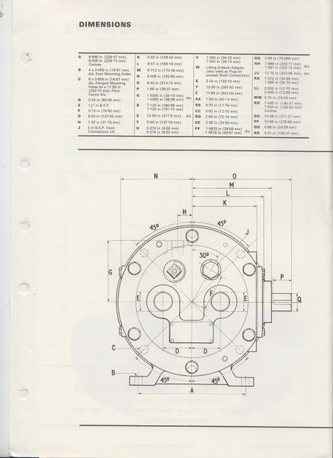 Dowty Boulton Paul - Downel Axial Piston, Variable Delivery Hydraulic Pump Data Sheet 1261 | Original photo in the Dowty archive at the Gloucestershire Heritage Hub