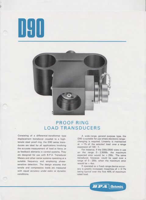 Dowty Boulton Paul - D90 Proof Ring Load Transducers | Original photo in the Dowty archive at the Gloucestershire Heritage Hub