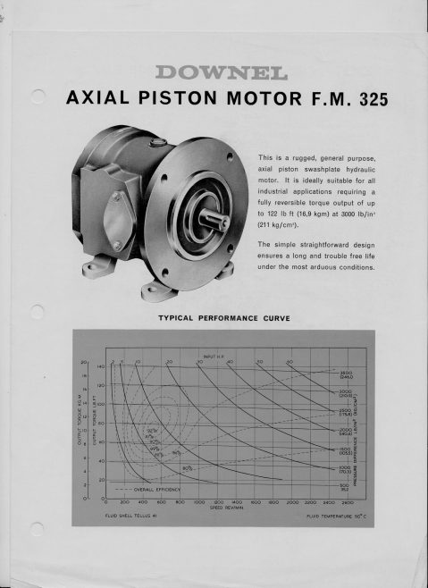 Dowty Boulton Paul - Downel Axial Piston Motor F.M. 325 | Original photo in the Dowty archive at the Gloucestershire Heritage Hub