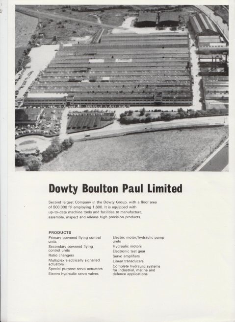 Dowty Boulton Paul - Manufacturing Capability | Original photo in the Dowty archive at the Gloucestershire Heritage Hub