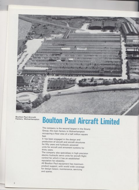 Dowty Boulton Paul - Hydraulic Power Controls Issue 2 | Original photo in the Dowty archive at the Gloucestershire Heritage Hub