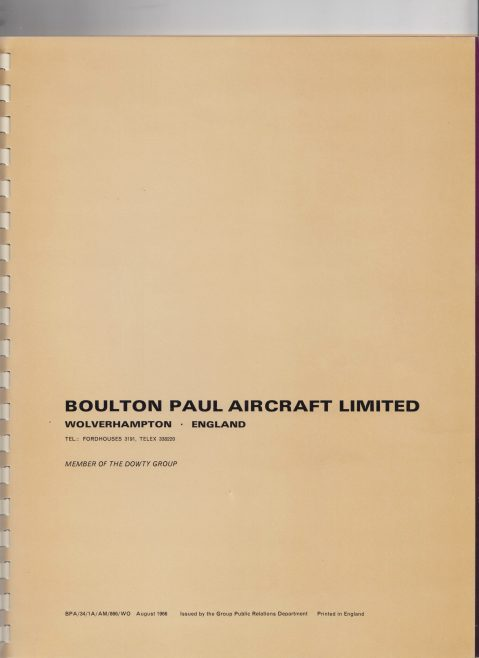 Dowty Boulton Paul - Hydraulic Power Controls Issue 1 | Original photo in the Dowty archive at the Gloucestershire Heritage Hub