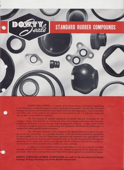 Dowty Seals - Standard Rubber Compounds | Original photo in the Dowty archive at the Gloucestershire Heritage Hub