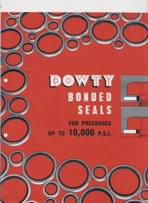 Dowty Seals - Bonded Seals for Pressures up to 10,000 P.S.I. | Original photo in the Dowty archive at the Gloucestershire Heritage Hub