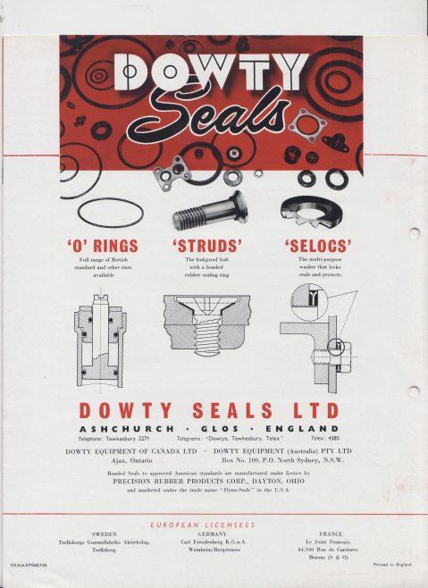 Dowty Seals - Bonded Seals