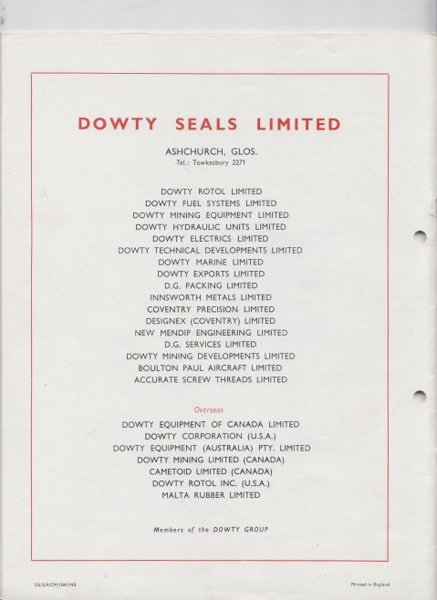 Dowty Seals - O Ring Seals | Original photo in the Dowty archive at the Gloucestershire Heritage Hub