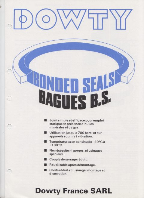 Dowty Seals - Product Catalogue (French Version) | Original photo in the Dowty archive at the Gloucestershire Heritage Hub