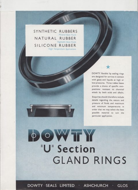 Dowty Seals - U Section Gland Rings | Original photo in the Dowty archive at the Gloucestershire Heritage Hub