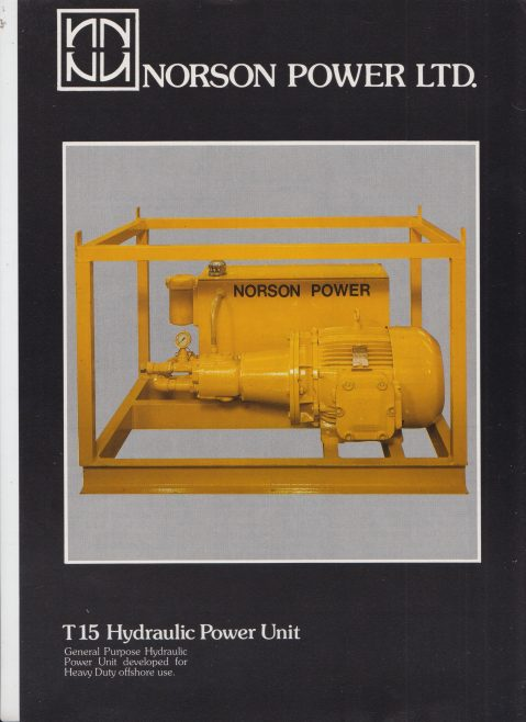 Norson Power Ltd - T15 Hydraulic Power Unit | Original photo in the Dowty archive at the Gloucestershire Heritage Hub