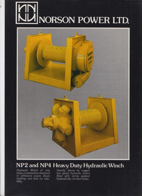Norson Power Ltd - NP2 & NP4 Heavy Duty Hydraulic Winch | Original photo in the Dowty archive at the Gloucestershire Heritage Hub