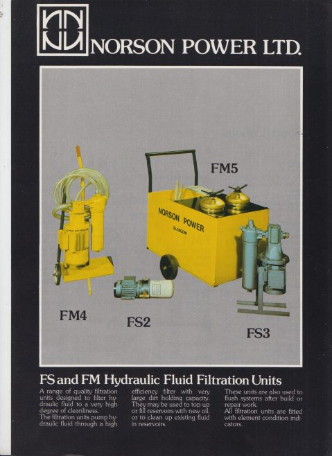 Norson Power Ltd - FS & FM Hydraulic Fluid Units | Original photo in the Dowty archive at the Gloucestershire Heritage Hub