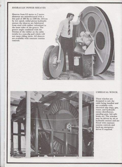Norson Power Ltd - Umbilical Cable Handling Equipment | Original photo in the Dowty archive at the Gloucestershire Heritage Hub