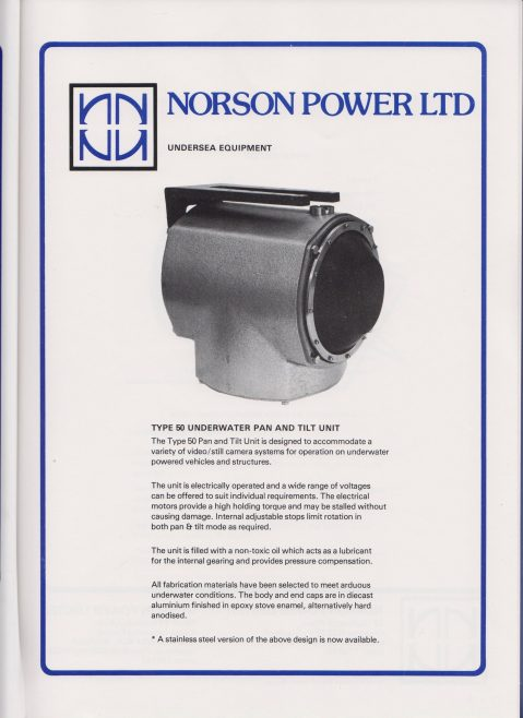 Norson Power Ltd - Undersea Equipment | Original photo in the Dowty archive at the Gloucestershire Heritage Hub