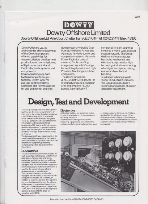 Dowty Offshore Ltd - Company Profile | Original photo in the Dowty archive at the Gloucestershire Heritage Hub