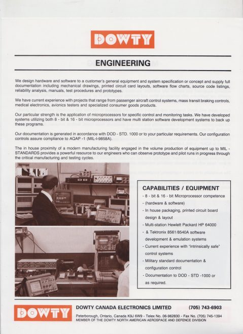 Dowty Canada Electronics - Engineering | Original photo in the Dowty archive at the Gloucestershire Heritage Hub