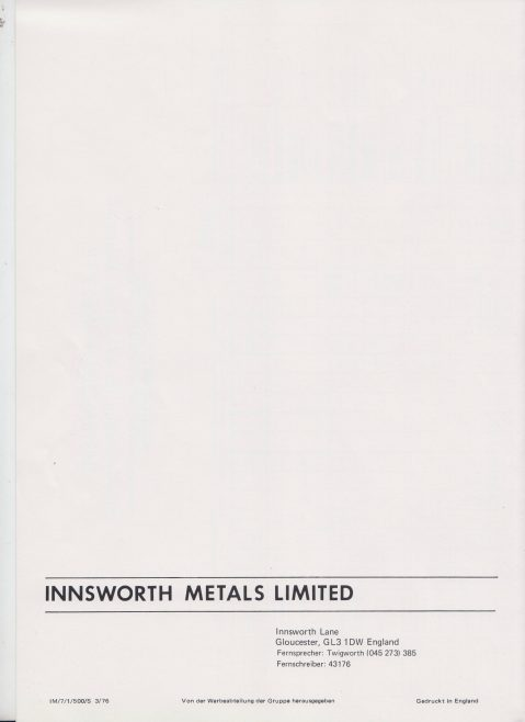 Innsworth Metals - Shaw Process Castings    Original photo in the Dowty archive at the Gloucestershire Heritage Hub