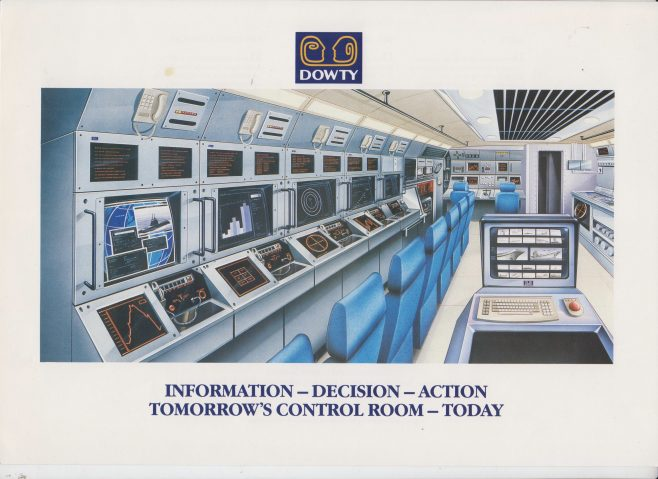 Dowty Maritime Systems - Tomorrows Control Room - Today! | Original photo in the Dowty archive at the Gloucestershire Heritage Hub